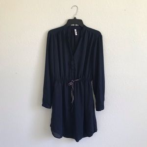 Xhilaration Navy blue Long sleeve dress